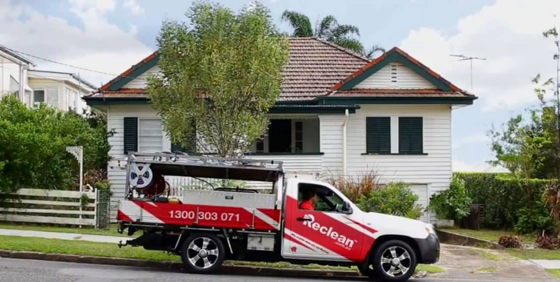 Exterior House Washing Brisbane Gold Coast External Home Cleaning Company Feature FB with Reclean Vehicle