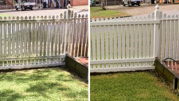Fence and Wall High Pressure Cleaning Brisbane Gold Coast Residential Exterior Cleaning